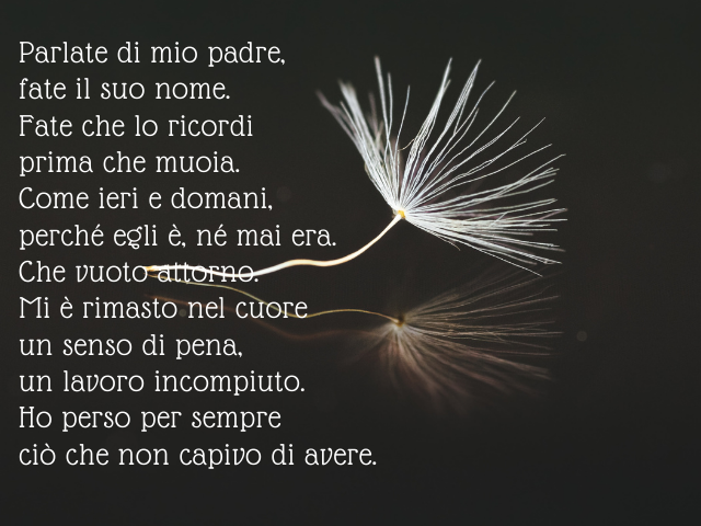 a mio padre poesia
