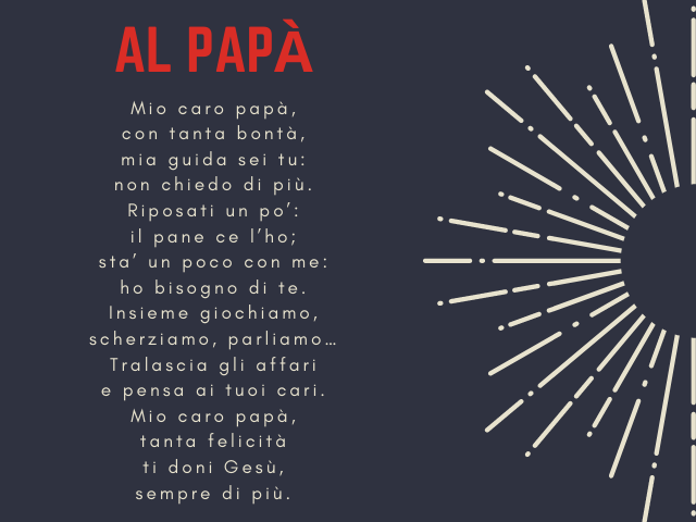 poesia a mio padre