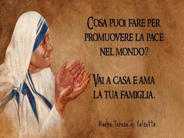 frasi Madre Teresa sulla famiglia